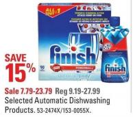 Finish Selected Automatic Dishwashing Products