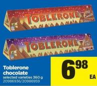 Toblerone Chocolate - 360 G