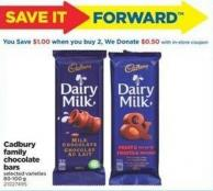 Cadbury Family Chocolate Bars - 80-100 g