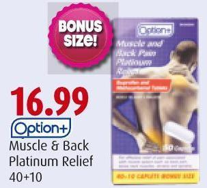 Option+ Muscle & Back Platinum Relief 40+10