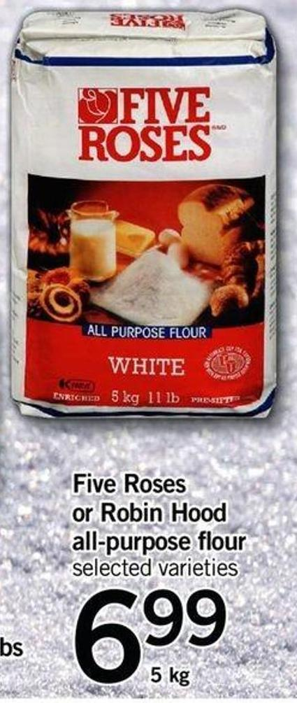 Five Roses Or Robin Hood All-purpose Flour - 5 Kg