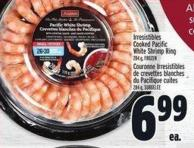 Irresistibles Cooked Pacific White Shrimp Ring 284 g