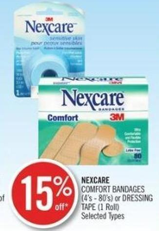 Nexcare Comfort Bandages (4's - 80's) or Dressing Tape (1 Roll)