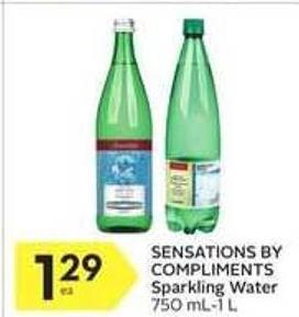 Sensations By Compliments Sparkling Water 750 Ml-1 L
