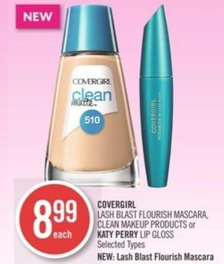 Covergirl  Lash Blast Flourish Mascara - Clean Makeup Products or Katy Perry Lip Gloss
