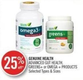 Genuine Health Advanced Cut Health Greens + Or Omega + Products