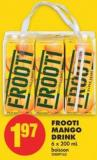 Frooti Mango Drink - 6 X 200 mL