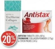 Antistax Tablets (30's-60's) - Trumarine Collagen Powder (175g) or Stick Packs (14's)
