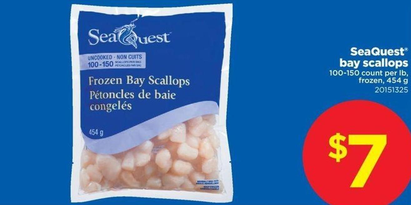 Seaquest Bay Scallops - 100-150 Count Per Lb - 454 G