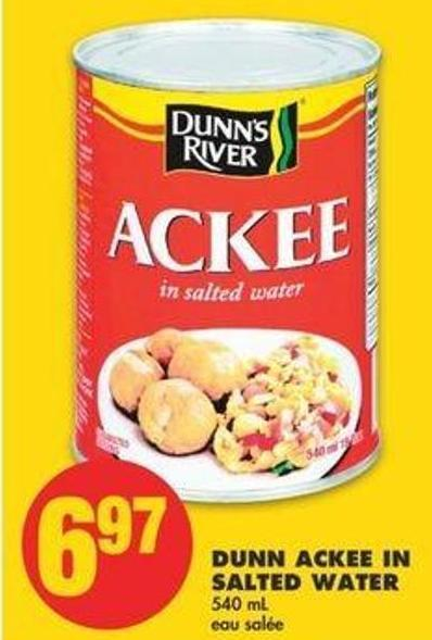 Dunn Ackee In Salted Water - 540 Ml