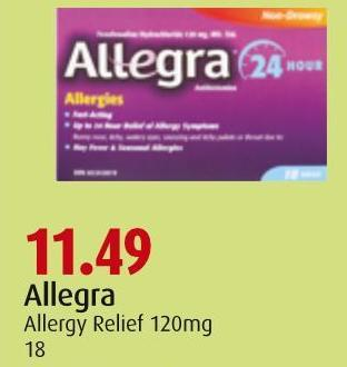 Allegra Allergy Relief 120mg