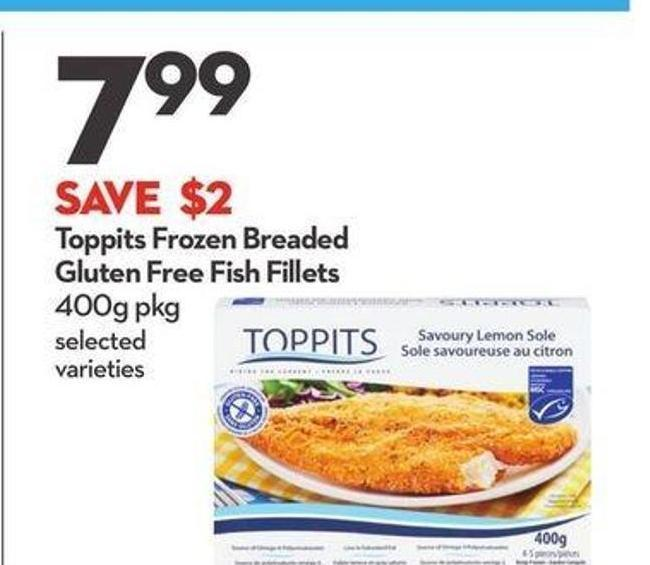 Toppits Frozen Breaded Gluten Free Fish Fillets
