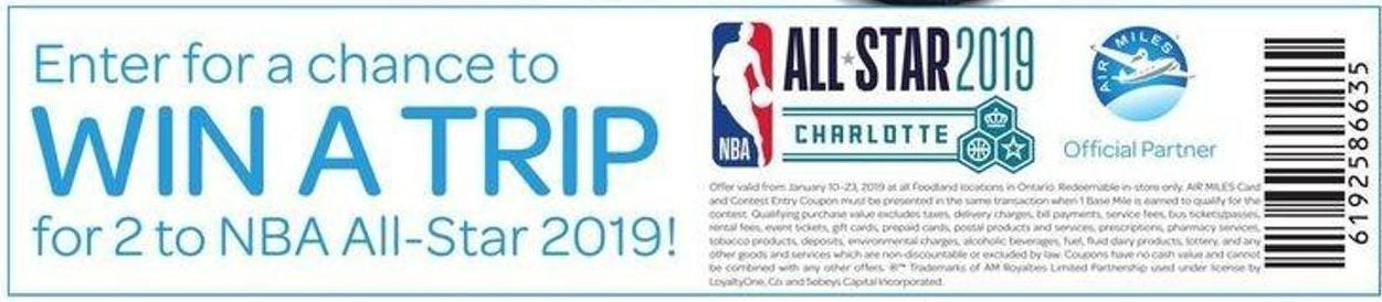 Enter For A Chance To Win A Trip For 2 To Nba All-star 2019!