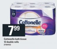 Cottonelle Bath Tissue 12 Double Rolls