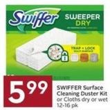 Swiffer Surface Cleaning Duster Kit or Cloths Dry or Wet 12-16 Pk