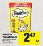 Whiskas Temptations - 130-180 g