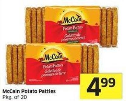 Mccain Potato Patties Pkg of 20