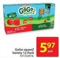 GoGo Squeez Variety 12-pack