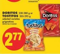 Doritos 230-280 g or Tostitos 205-295 g