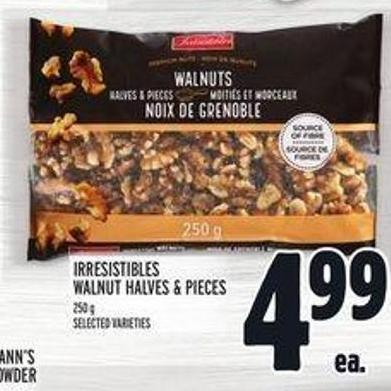 Irresistibles Walnut Halves & Pieces