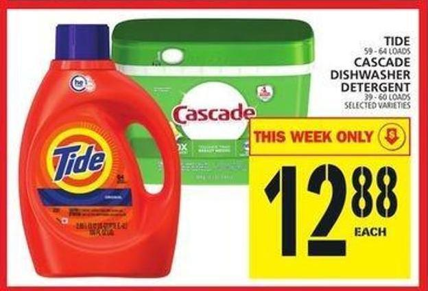 Tide Or Cascade Dishwasher Detergent