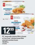 PC Buttermilk Chicken Fillet Or Breast Or Free From Chicken Breast Fillet - 750/907 g