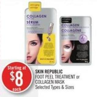 Skin Republic Foot Peel Treatment or Collagen Mask