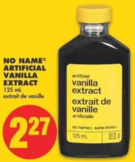 No Name Artificial Vanilla Extract - 125 mL