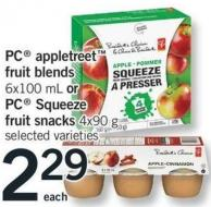 PC Appletreet Fruit Blends - 6x100 Ml Or PC Squeeze Fruit Snacks - 4x90 G