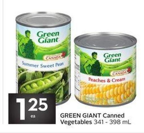 Green Giant Canned Vegetables