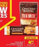 Cracker Barrel Shreds or Large Bar