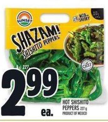 Hot Shishito Peppers 227 g