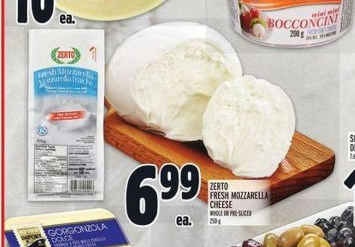 Zerto Fresh Mozzarella Cheese