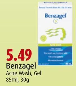 Benzagel Acne Wash - Gel 85ml - 30g