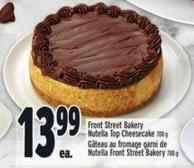 Front Street Bakery Nutella Top Cheesecake 700 g