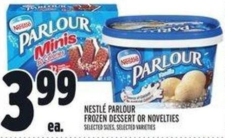 Nestlé Parlour Frozen Dessert Or Novelties