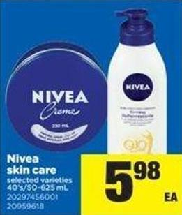 Nivea Skin Care - 40's/50-625 mL