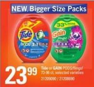 Tide Or Gain Pods/flings! - 73-96 Ct