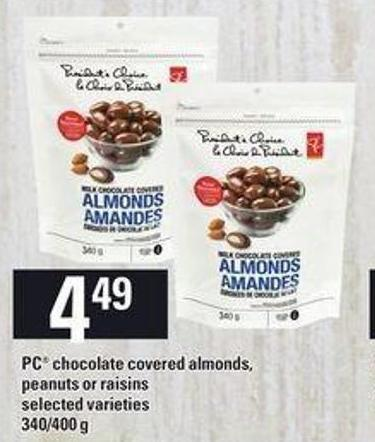 PC Chocolate Covered Almonds - Peanuts Or Raisins - 340/400 g