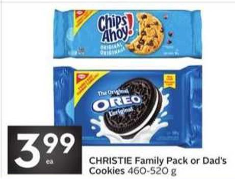 Christie Family Pack or Dad's Cookies