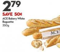 Ace Bakery White Baguette - 350g