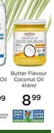 Butter Flavour Coconut Oil - 414ml$8.99valid February 14 - 2019 - February 20 - 2019in The Event of Disagreement Between The Flyer and This Popup - The Flyer Shall Take Precedence.
