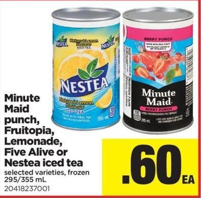 Minute Maid Punch - Fruitopia - Lemonade - Five Alive Or Nestea Iced Tea - 295/355 Ml