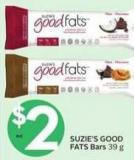 Suzie's Good Fats Bars 39 g