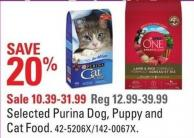 Selected Purina Dog - Puppy and Cat Food