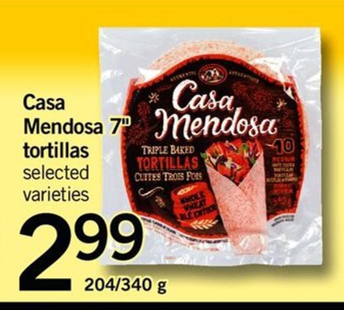 Casa Mendosa 7in Tortillas - 204/ 340 G