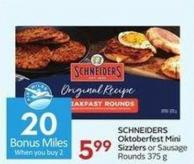 Schneiders Oktoberfest Mini Sizzlers or Sausage Rounds 375 G- 20 Air Miles