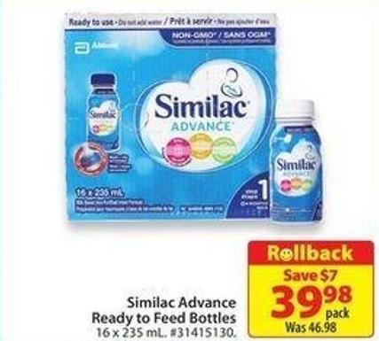 Similac Advance Ready To Feed Bottles