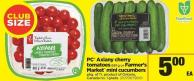 PC Axiany Cherry Tomatoes 681 G Or Farmer's Market Mini Cucumbers - Pkg of 11