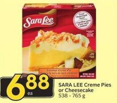 Sara Lee Creme Pies or Cheesecake